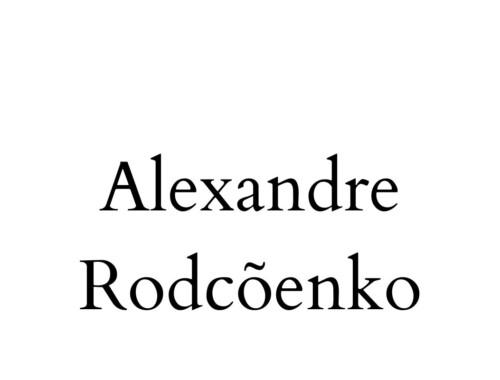 Alexandre Rodcõenko