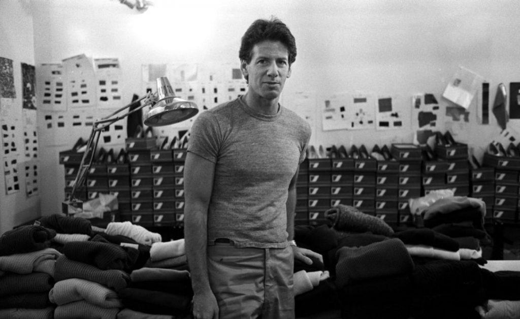 1980, Calvin Klein nel suo studio