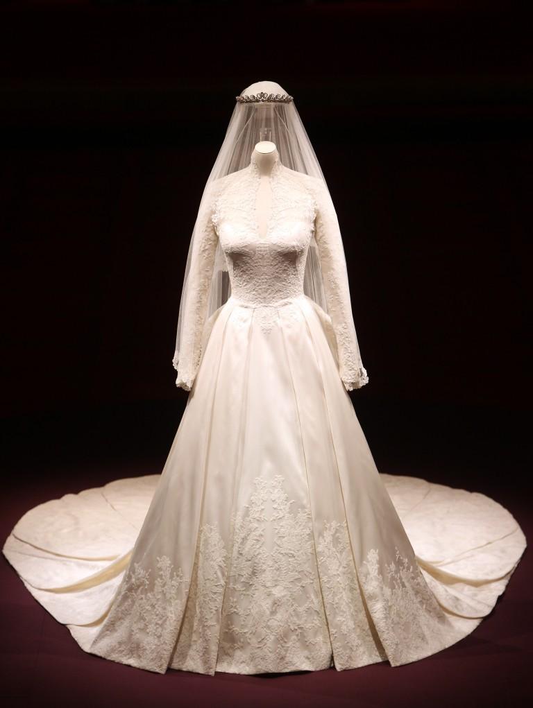 l'abito da sposa di Kate Middelton
