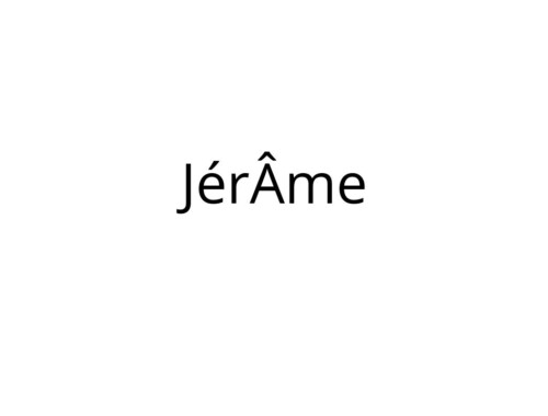 JérÂme